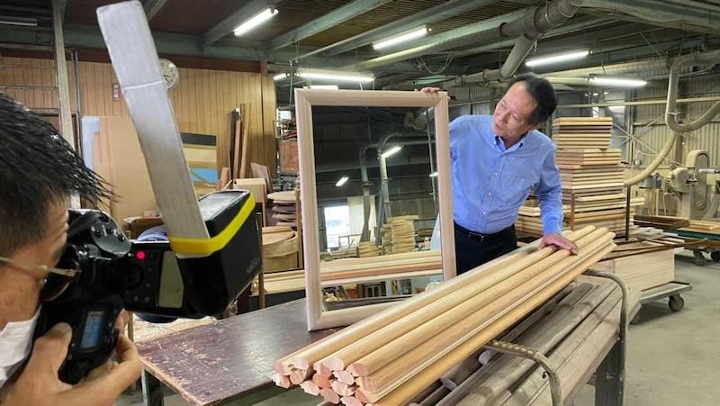 千代木工SOL吉野杉SENNOKIセンノキミラー和室おしゃれ木枠姿見日本製鏡